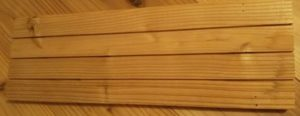 杉板の裏側