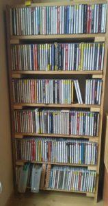 出来上がったCDの棚