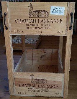 ワイン木箱でラック作り