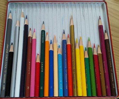 短くなった色鉛筆