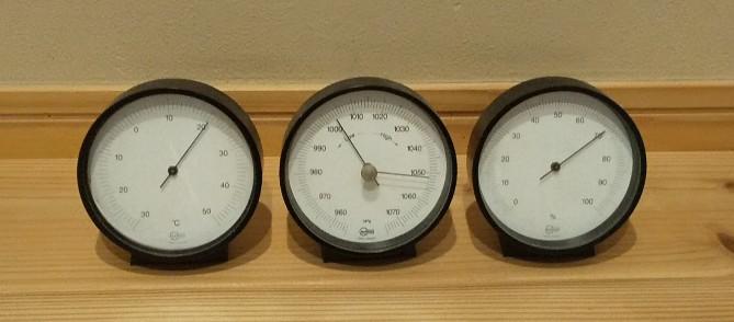 温度、湿度、気圧計