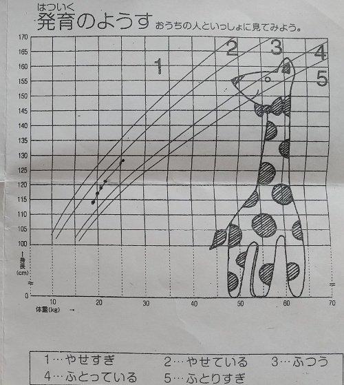 身長体重曲線